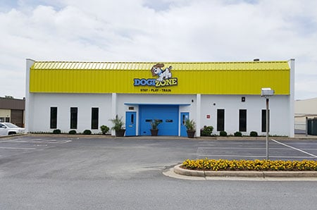 Exterior shot of the Dogizone facility